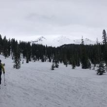 Skinning up from Bunny Flat