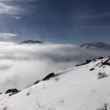 Looking towards Middle Peak from Left Peak southeast aspect