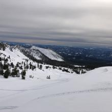 Looking down Old Ski Bowl near east boundary