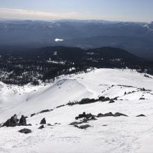 Looking down Powder Bowl from top of Green Butte