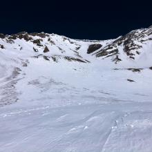 Looking Up Avalanche Gulch from Lake Helen