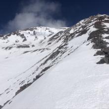 Green Butte Ridge looking toward Avalanche Gulch