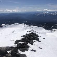 Looking down towards Green Butte