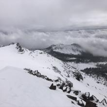 Looking toward Gray Butte from summit of Green Butte