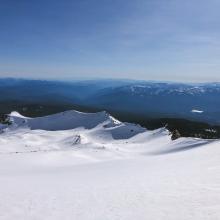 Looking down Old Ski Bowl