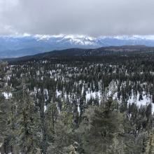 Looking north west as sporadicsnow flurries move in