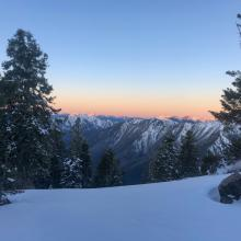 Sun rise over the Marble Mountain Wilderness