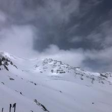 View of Avalanche Gulch from Casaval Ridge