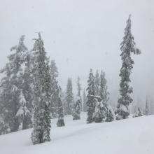 Gray Butte, poor visibility