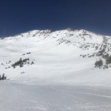 Old Ski Bowl and Sargents Ridge, skyline right