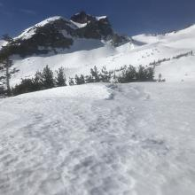 Green Butte left, Old Ski Bowl from Wilderness boundary east