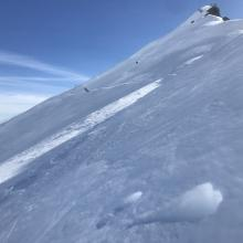 North facing slopes firm and crusty, even during warmest time of day