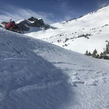 North facing slopes with Old Ski Bowl in background