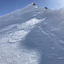 Northerly facing slopes representative photo, wilderness boundary east, Old Ski Bowl
