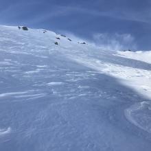 Representative snow surfaces, shady aspects