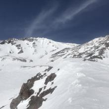 Green Butte Ridge, 9,800 feet, upper Avalanche Gulch