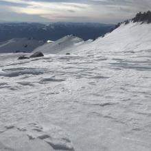 Representative photo of mid-upper elevation snow surfaces