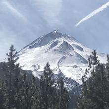 Hotlum/Bolam ridge route, Hotlum Glacier to the left