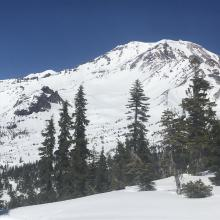 Looking at the Old Ski Bowl from near the top of Gray Butte