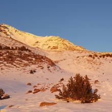 Sunrise in Avalanche Gulch