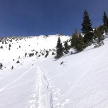 If skiing above treeline, stay in the middle of gullies. You will hit a rock or two.