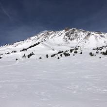 Looking up St Germain Bowl and Old Ski Bowl from the east boundary.
