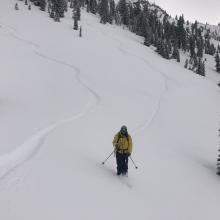 Ski penetration (PS) = 6in (15 cm)