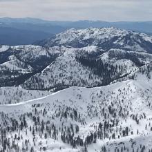 Looking out toward Porcupine Peak area