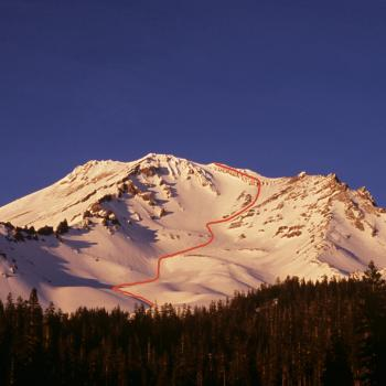 Mt. Shasta - Avalanche Gulch - View from Bunny Flat - Photo by Tim Corcoran