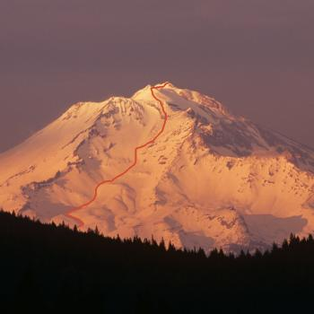 Mt. Shasta - Avalanche Gulch - View from I5 - Photo by Tim Corcoran