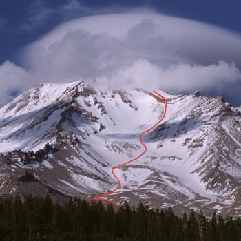 Mt. Shasta - Avalanche Gulch - Late Spring / Early Summer - Photo by Tim Corcoran
