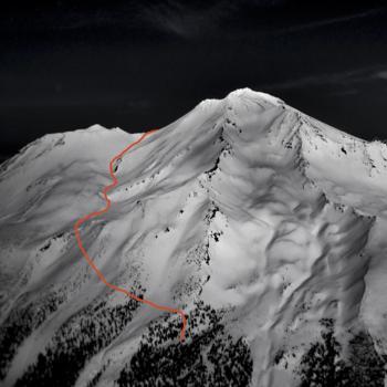Mount Shasta - Cascade Gulch - Aerial View of Route