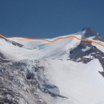 Mount Shasta - Cascade Gulch - Upper section across Whitney Glacier