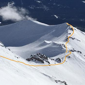 Mount Shasta - Climbing Routes - Green Butte Ridge - Looking Back