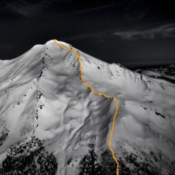 Mount Shasta - Climbing Routes - Green Butte Ridge - Aerial View