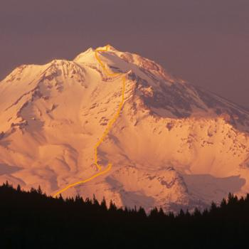 Mount Shasta - Climbing Routes - Green Butte Ridge - View from I5 - Photo by Tim Corcoran