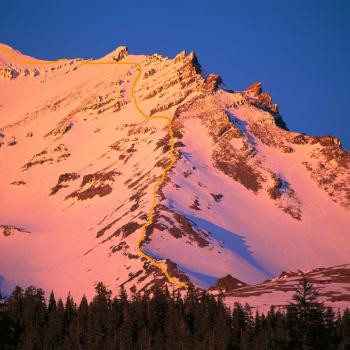 Mount Shasta - Climbing Routes - Green Butte Ridge - Sunset - Photo by Tim Corcoran